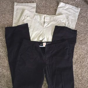 95a200466cb Arizona Jean Company Pants - Two pair Arizona khaki style pants black tan  used